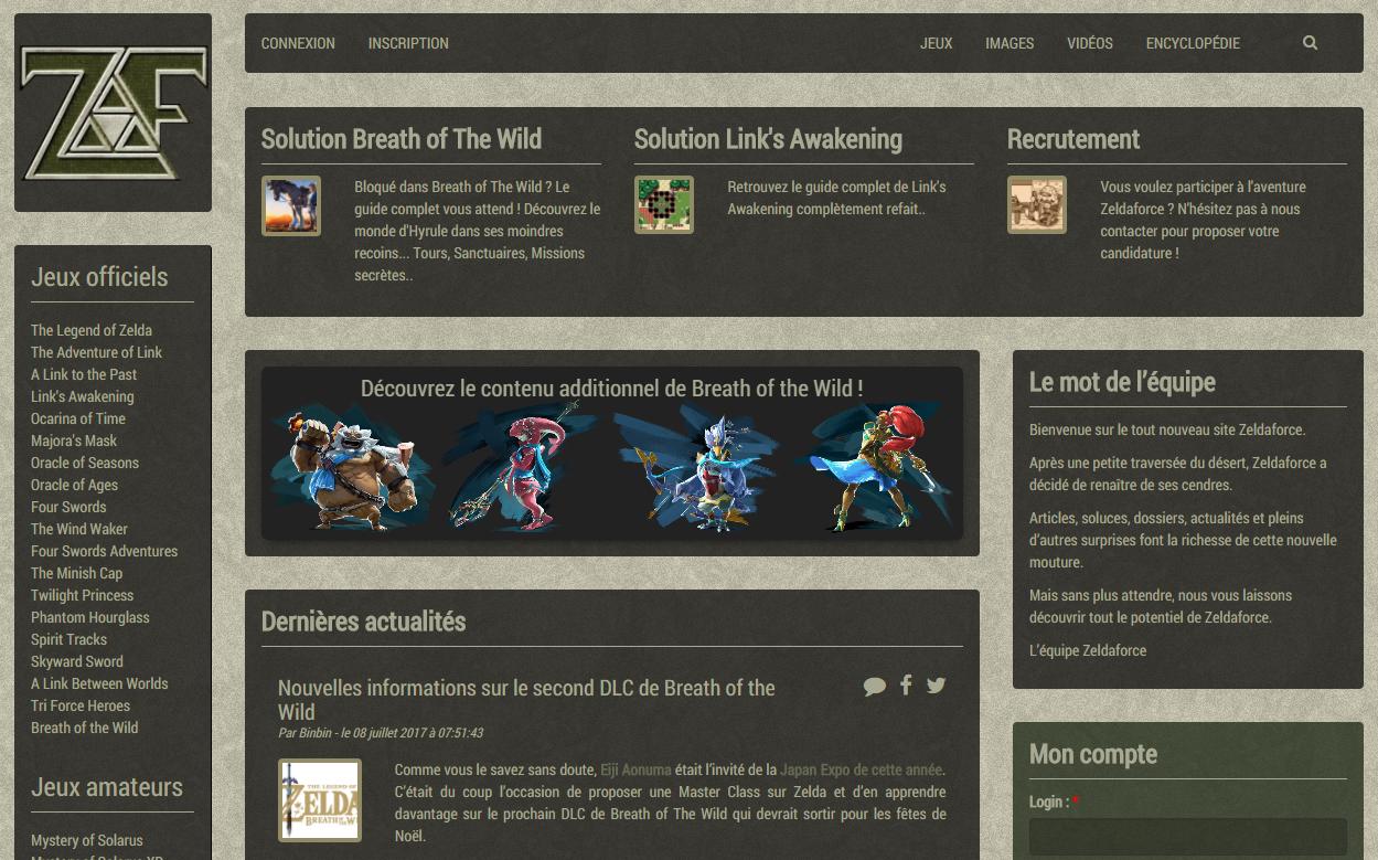 La nouvelle version de Zeldaforce