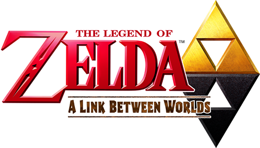 Logo d'A Link Between Worlds avec la Triforce sombre