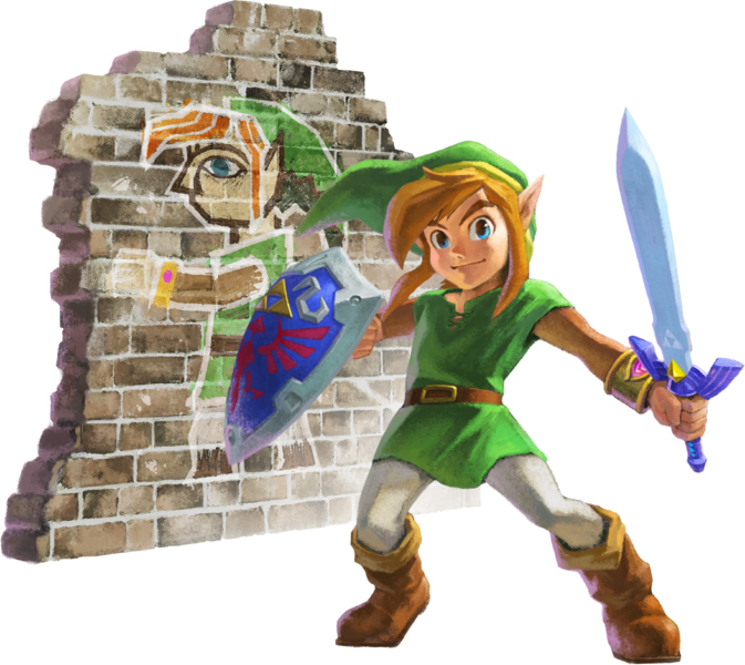 Seconde version de l'artwork officiel de Link et de sa peinture murale