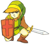 Link dans The Adventure of Link