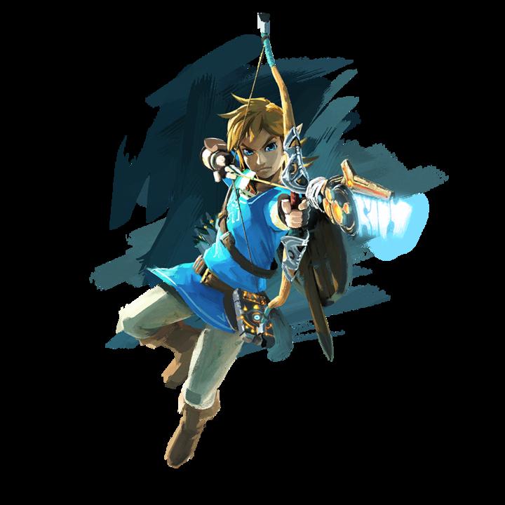 Link tirant une flèche archéonique (Artwork - Personnages - Breath of the Wild)