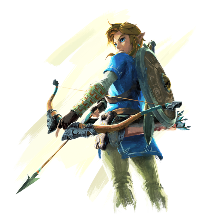 Link tenant son arc (Artwork - Personnages - Breath of the Wild)