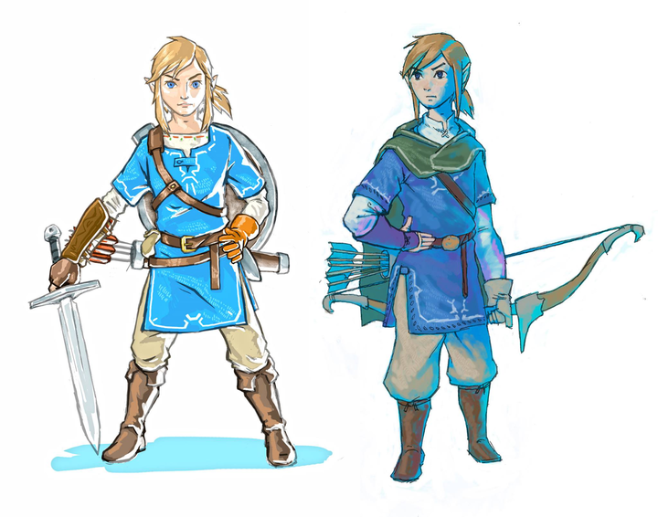 Concept Art de Link (Artwork - Concept Arts - Breath of the Wild)