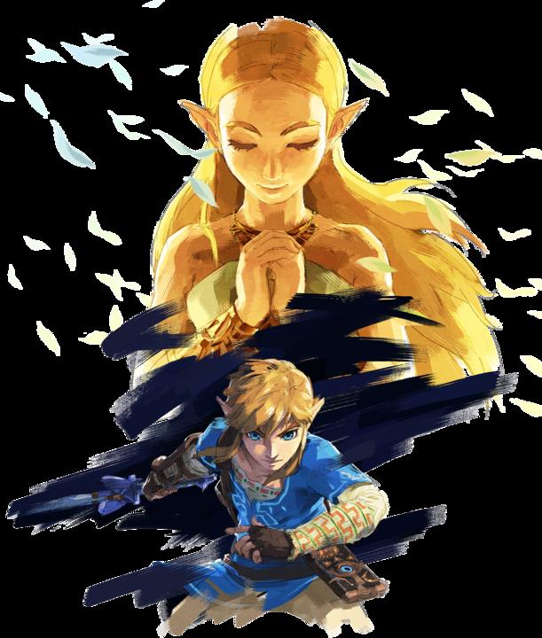 Link et Zelda (Artwork - Personnages - Breath of the Wild)