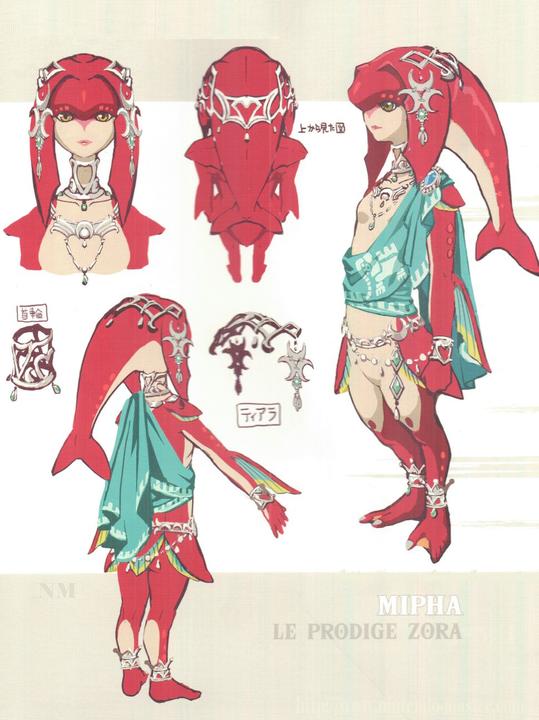 Concept Art de Mipha (Artwork - Concept Arts - Breath of the Wild)