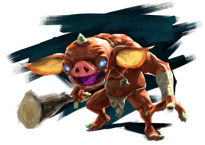 Un Bokoblin (Artwork - Ennemis - Breath of the Wild)