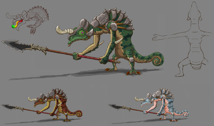 Concept Art de Lizalfos (Artwork - Concept Arts - Breath of the Wild)