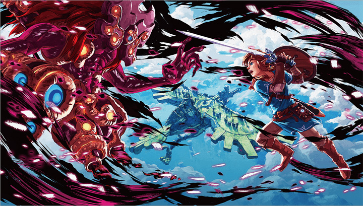 Link contre l'Ombre de Vent de Ganon (Artwork - Illustrations - Breath of the Wild)