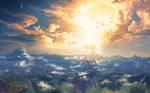 Coucher de soleil sur Hyrule