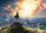 Link face à un coucher de soleil sur Hyrule