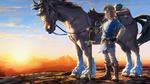Link et un cheval