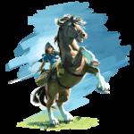 Link à cheval