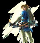 Link tenant son arc