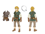 Concept Art de Link vêtu d'un doublet