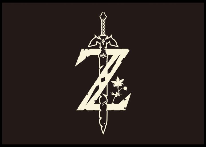 Logo simplifié de Breath of the Wild sur fond noir (Image diverse - Logos - Breath of the Wild)