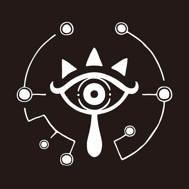 Logo en forme d'œil Sheikah (Image diverse - Logos - Breath of the Wild)