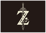 Logo simplifié de Breath of the Wild sur fond noir