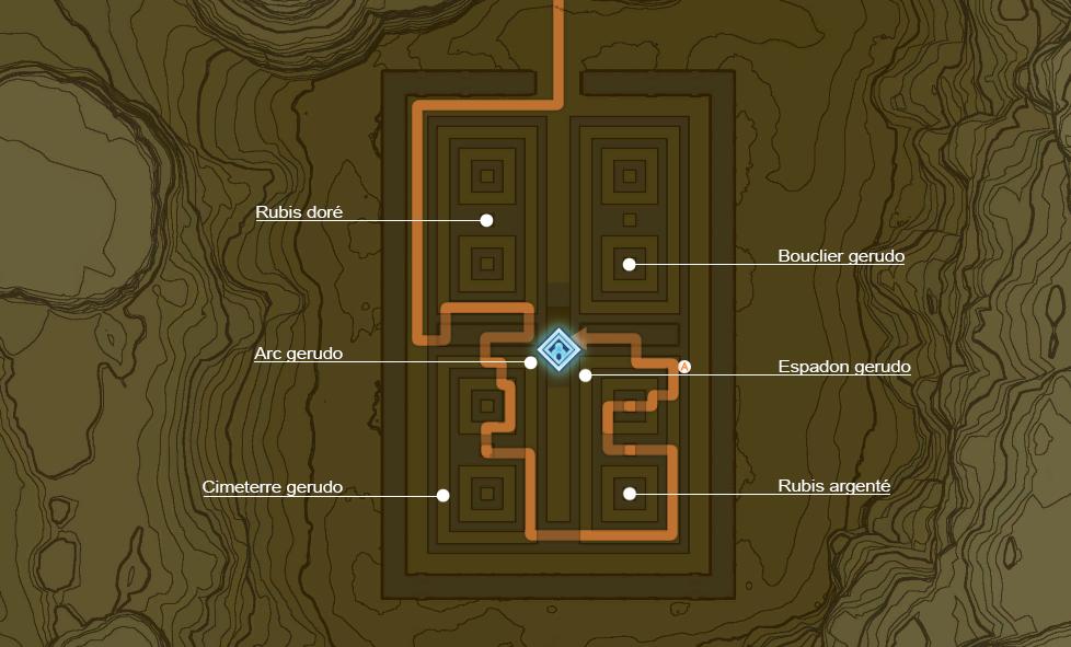 Plan détaillé de l'épreuve d'Edal de Breath of the Wild