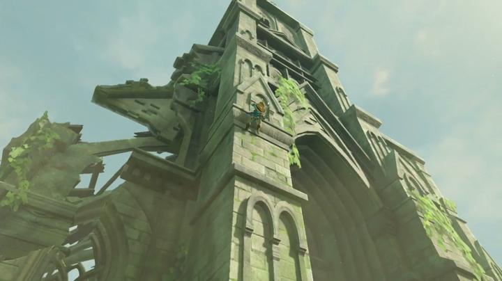 Link escaladant le Temple du Temps (Screenshot - Screenshots de l'E3 2016- Breath of the Wild)