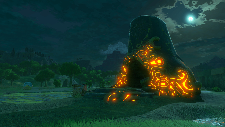 Le sanctuaire de Ma'Ohnu de nuit (Screenshot - Screenshots de l'E3 2016- Breath of the Wild)