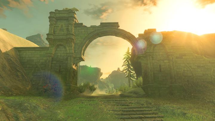 La route menant vers la rivière depuis le Temple du Temps (Screenshot - Screenshots de l'E3 2016- Breath of the Wild)