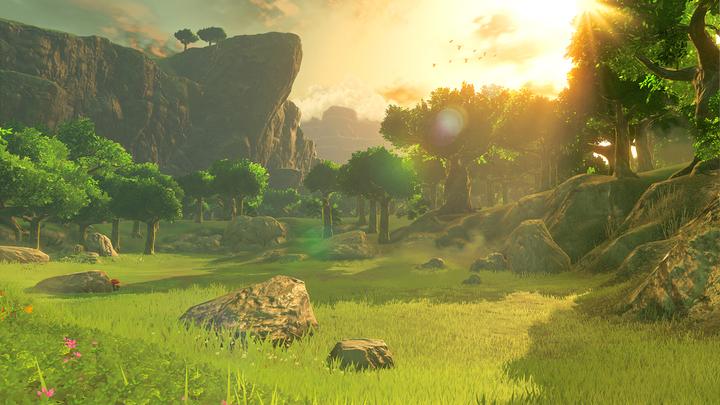 Coucher de soleil sur le Bois des Esprits (Screenshot - Screenshots de l'E3 2016- Breath of the Wild)