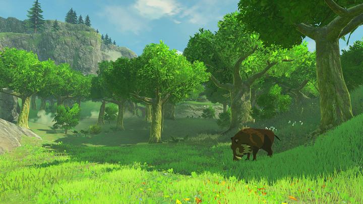 Un sanglier dans le Bois des Esprits (Screenshot - Screenshots de l'E3 2016- Breath of the Wild)
