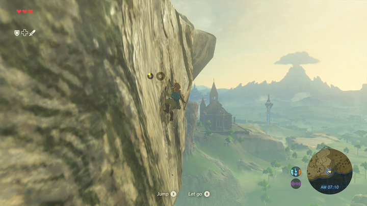 Link escaladant au sud du Plateau du Prélude (Screenshot - Screenshots de l'E3 2016- Breath of the Wild)