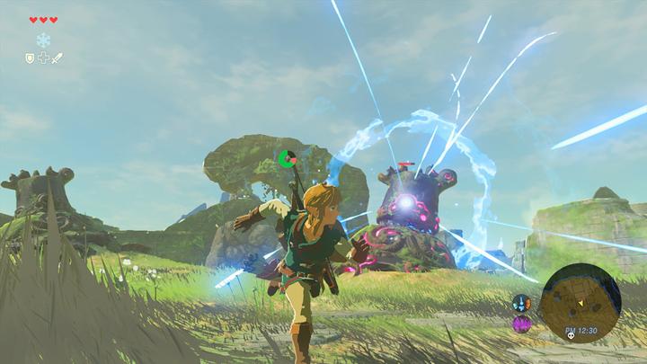 Link fuyant un gardien près du sanctuaire de Ja'Bashif (Screenshot - Screenshots de l'E3 2016- Breath of the Wild)