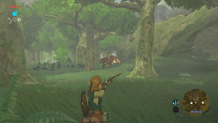 Link chassant un sanglier dans les bois (Screenshot - Screenshots de l'E3 2016- Breath of the Wild)