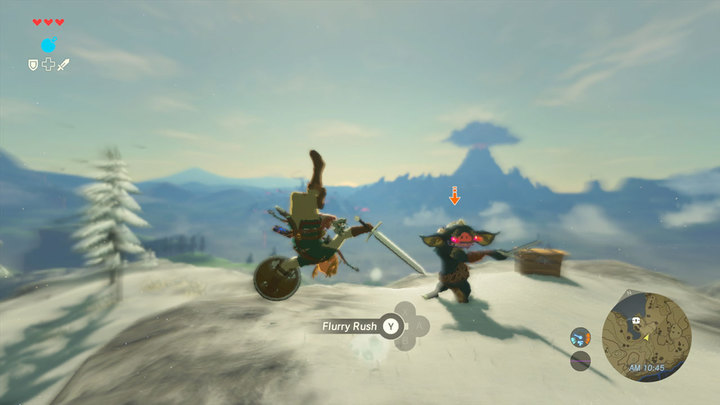 Link réalisant une esquive parfaite face à un Bokoblin (Screenshot - Screenshots de l'E3 2016- Breath of the Wild)