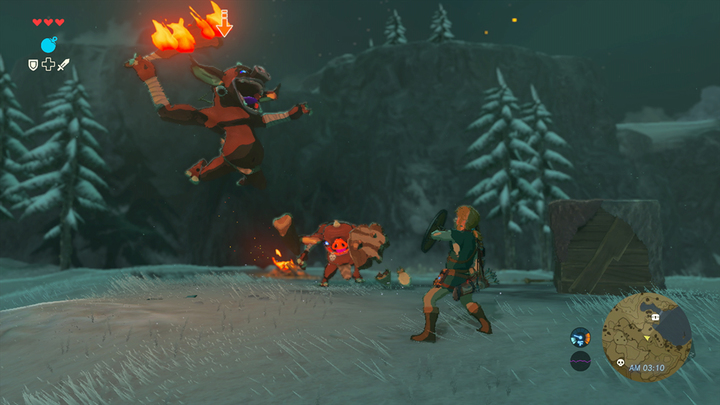 Link se défendant face à deux Bokoblins (Screenshot - Screenshots de l'E3 2016- Breath of the Wild)