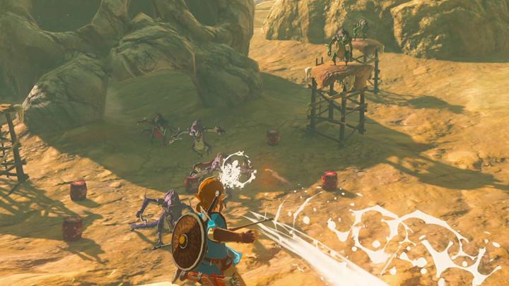 Vue sur un canyon depuis le sommet d'un relais (Screenshot - Screenshots publiés sur les réseaux sociaux- Breath of the Wild)