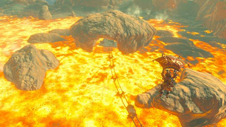 Scène de voltige à la mine abandonnée du nord (Screenshot - Screenshots publiés sur les réseaux sociaux- Breath of the Wild)