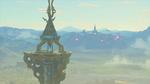 Vue sur le château d'Hyrule depuis la Tour du Prélude