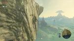 Link escaladant au sud du Plateau du Prélude