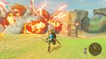 Link faisant exploser un camp de Bokoblin