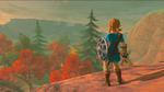 Link face à un paysage automnal