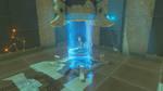 Link entrant dans un sanctuaire