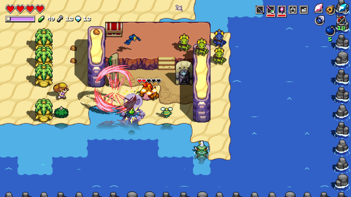 Zelda utilisant le feu de Din (Screenshot - Screenshots - Cadence of Hyrule)