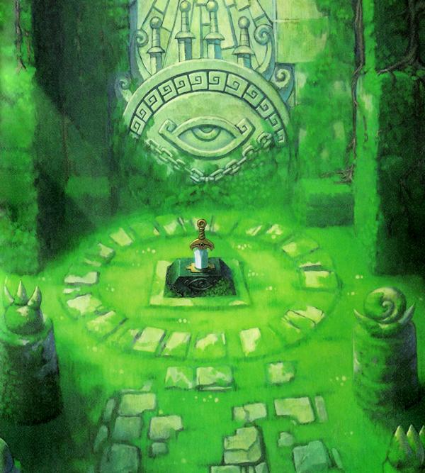 Le Sanctuaire de l'épée de Quatre (Artwork - Illustrations - Four Swords Adventures)