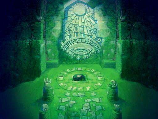 Le Sanctuaire de l'épée de Quatre après le retour de Vaati (Artwork - Illustrations - Four Swords Adventures)