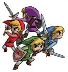 Les quatre Link dos à dos
