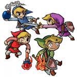 Les quatre Link s'affrontant