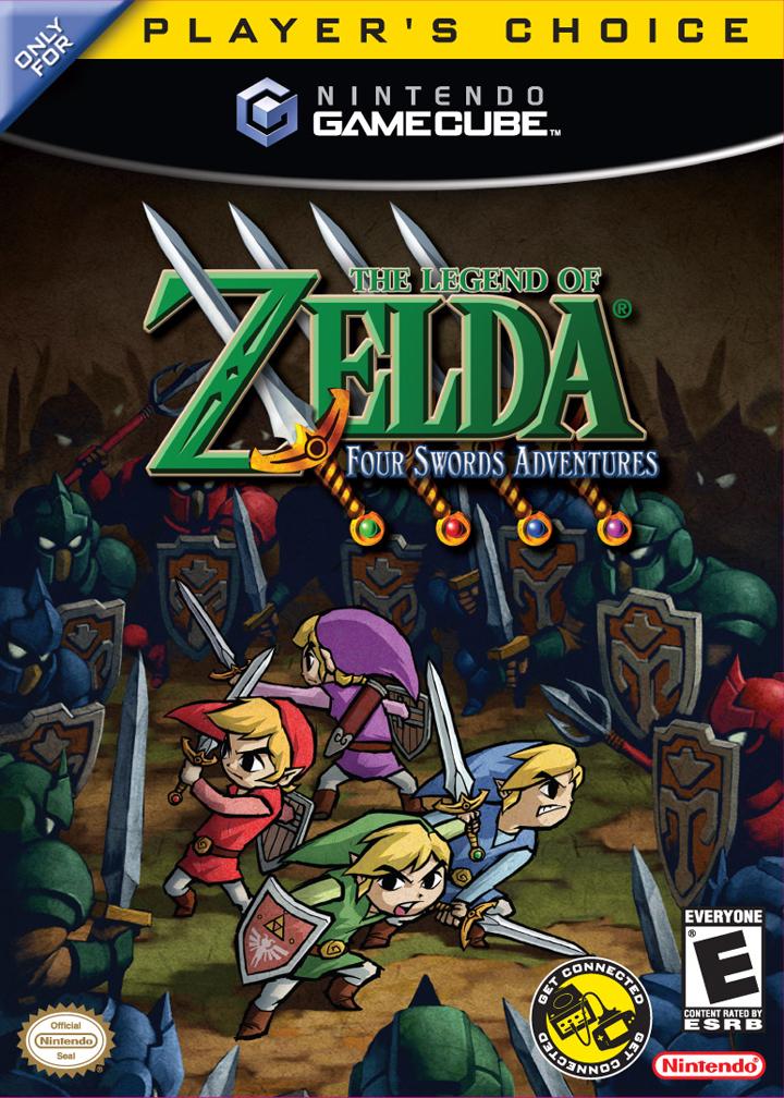 Boitier Américain de Four Swords Adventures en édition Player Choice (Image diverse - Boîtiers - Four Swords Adventures)