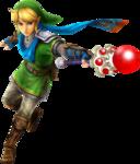 Link attaquant avec la baguette de feu