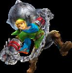 Link attaquant avec les gants de puissance et le boulet