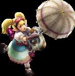 Machaon attaquant avec son ombrelle