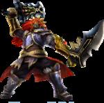 Ganondorf attaquant avec les doubles épées