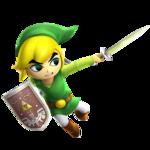 Link Cartoon attaquant à l'épée